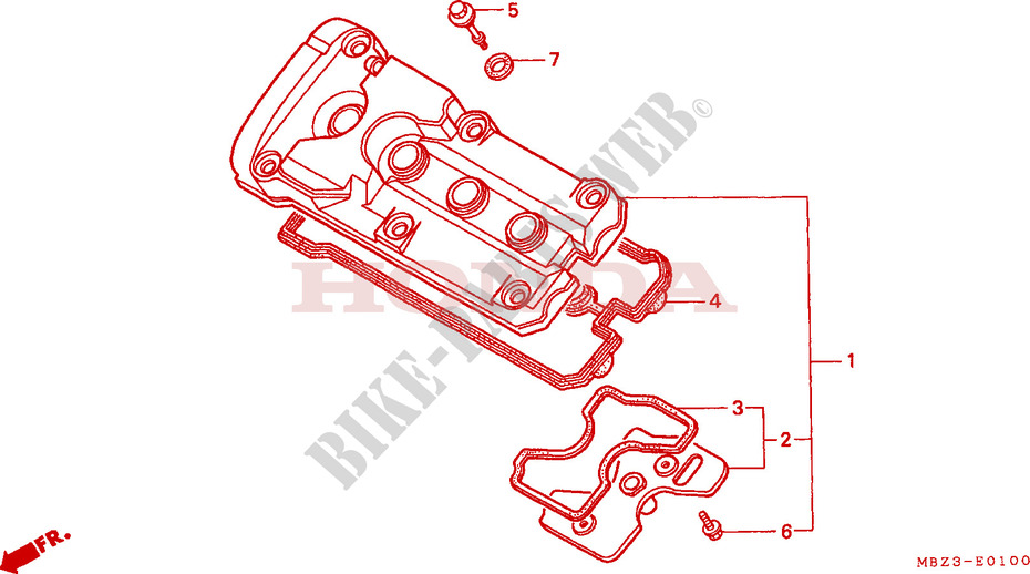 CYLINDER HEAD COVER for Honda CB 600 S HORNET 2001