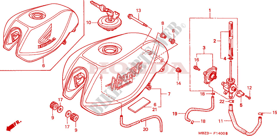 FUEL TANK for Honda CB 600 S HORNET 2001