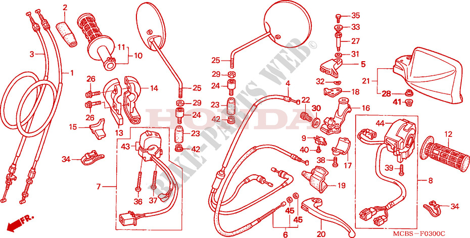 Switch  Cable For Honda Transalp 650 2006   Honda