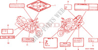 CAUTION LABEL Frame 1100 honda-motorcycle CB 2001 F__3500