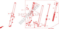 FRONT FORK Honda motorcycle microfiche diagram CB1100SFY 2000 CB 1100 X11