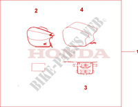 PILLION BAG Accessories 1100 honda-motorcycle CB 2001 08L5701