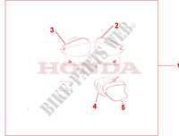 SOFT PANNIERS L/R Accessories 1100 honda-motorcycle CB 2001 08L5602