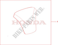 TANK PAD Accessories 1100 honda-motorcycle CB 2001 08P6102