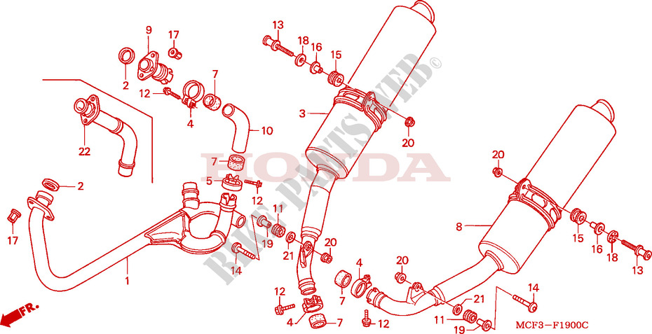 Vtr Sp1 Parts 2000 Vtr 1000 Sp1
