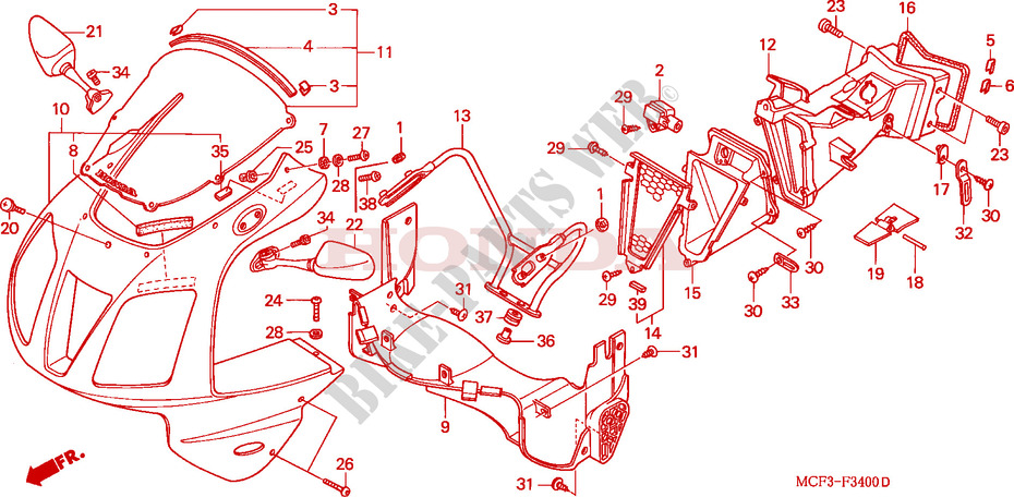 Vtr Sp1 Parts 2001 Vtr 1000 Sp1 Rc51
