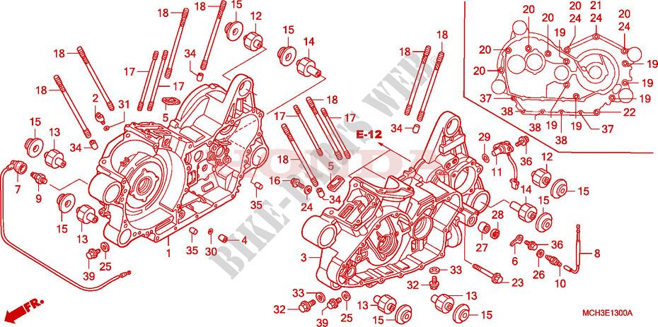 Crankcase For Honda Vtx 1800 C 2004   Honda Motorcycles