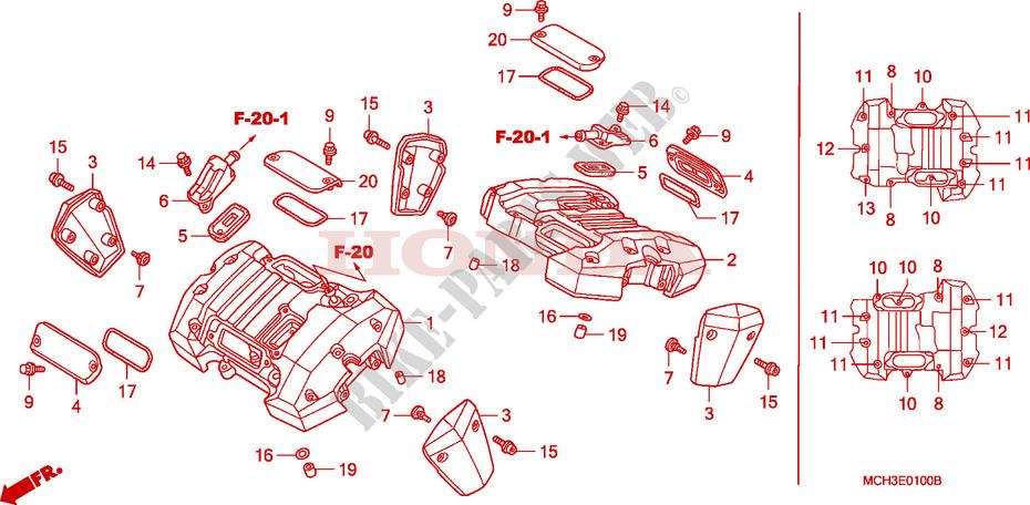 Cylinder Head Cover For Honda Vtx 1800 C1 2006   Honda