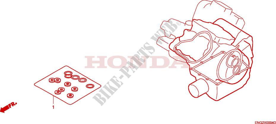 Gasket Kit B Engine Vtx1800c4 2004 Vtx 1800 Moto Honda