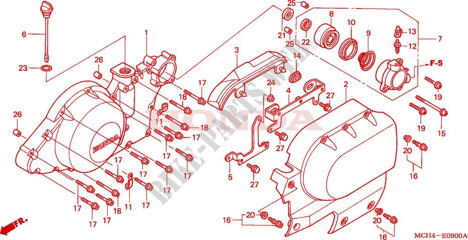 Left Crankcase Cover For Honda Vtx 1800 C1 2006   Honda