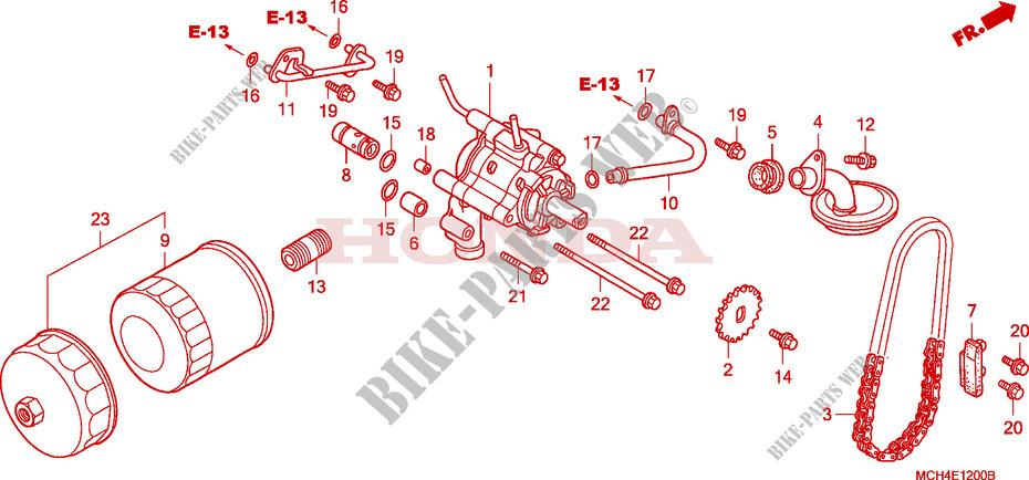 Oil Filter  Oil Pump For Honda Vtx 1800 C 2005   Honda