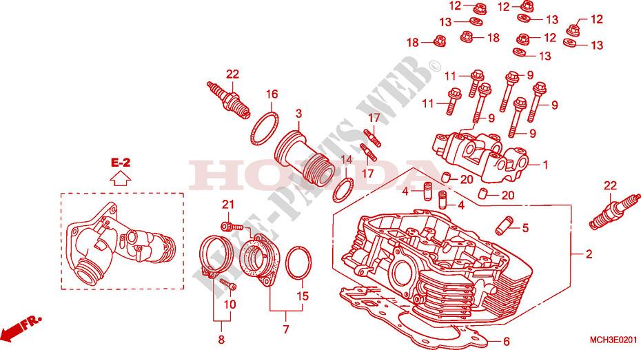 Rear Cylinder Head For Honda Vtx 1800 C 2003   Honda