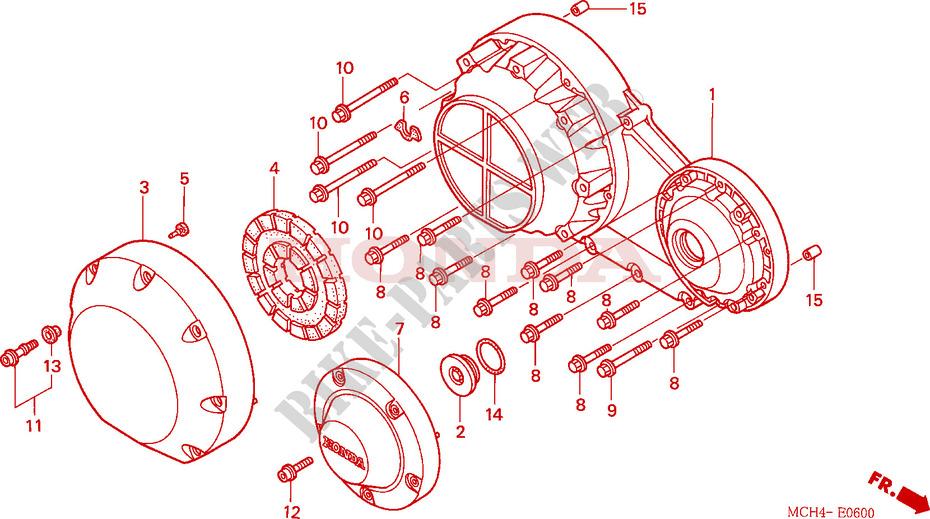 Right Crankcase Cover For Honda Vtx 1800 C1 2006   Honda