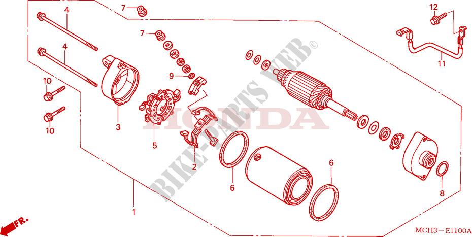 Starting Motor For Honda Vtx 1800 C 2003   Honda