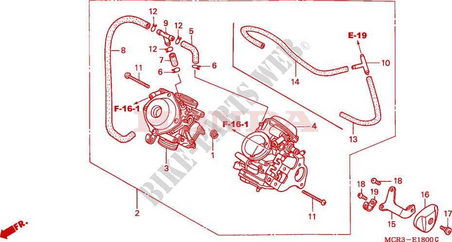 Carburetor  Assy   For Honda Shadow Vt 750 Spirit 2003