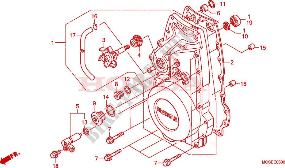 FRONT CRANKCASE COVER for Honda PAN EUROPEAN 1300 ABS 2010 ...