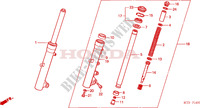 FRONT FORK for Honda SILVER WING 600 2001