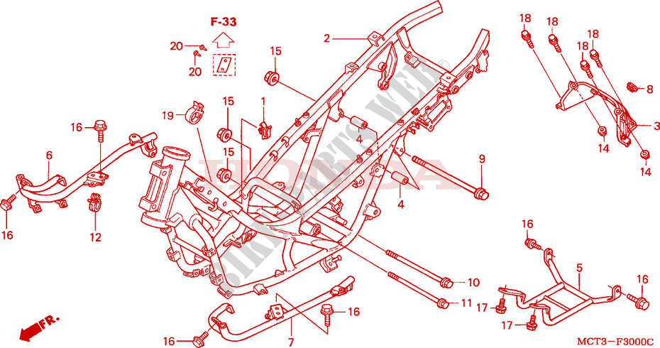 Frame Body For Honda 600 Silverwing 2004   Honda