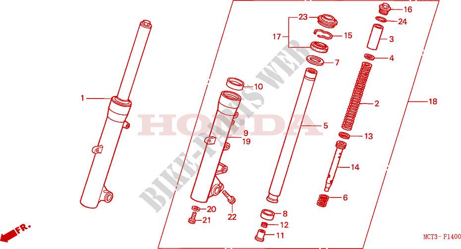 Fork tube stuck Compressed FRONT-FORK-Honda-SCOOTER-600-SILVERWING-2004-FJS600D4-F__1400