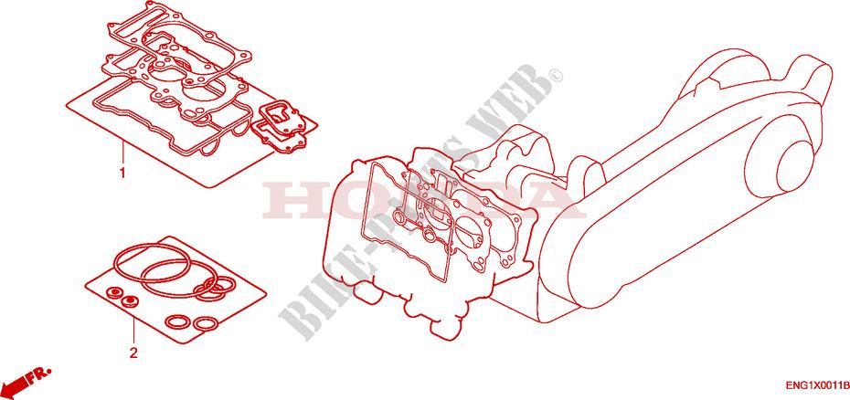 gasket kit a engine fjs6001 2001 silverwing 600 scooter honda