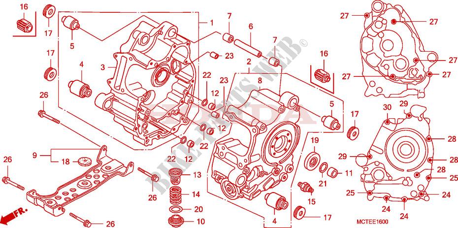 Crankcase For Honda Silver Wing 600 Abs 2006   Honda Motorcycles  U0026 Atvs Genuine Spare Parts Catalog