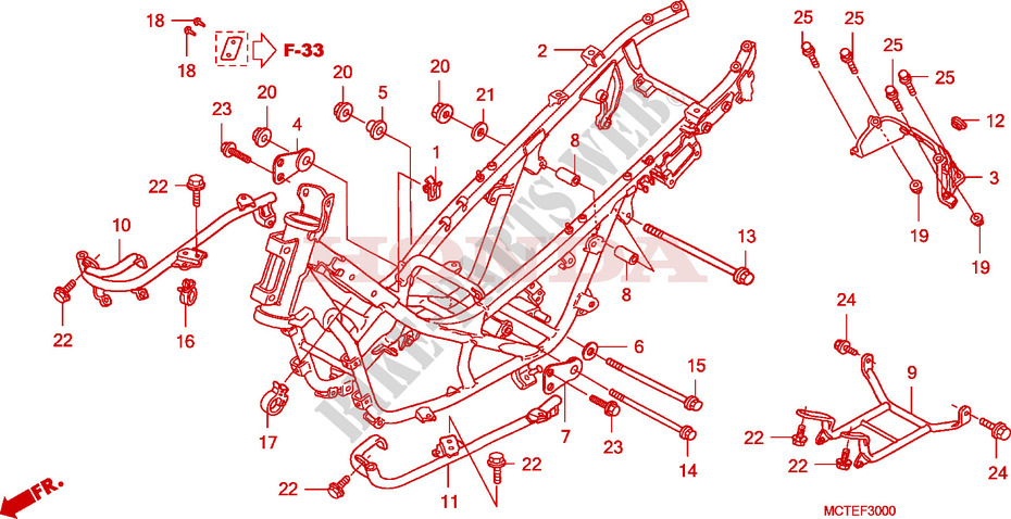 Frame For Honda Silver Wing 600 Abs 2007   Honda