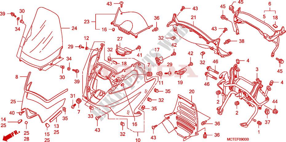 front cover frame fjs600a7 2007 silverwing 600 scooter honda rh bike parts honda com honda fjs 600 wiring diagram
