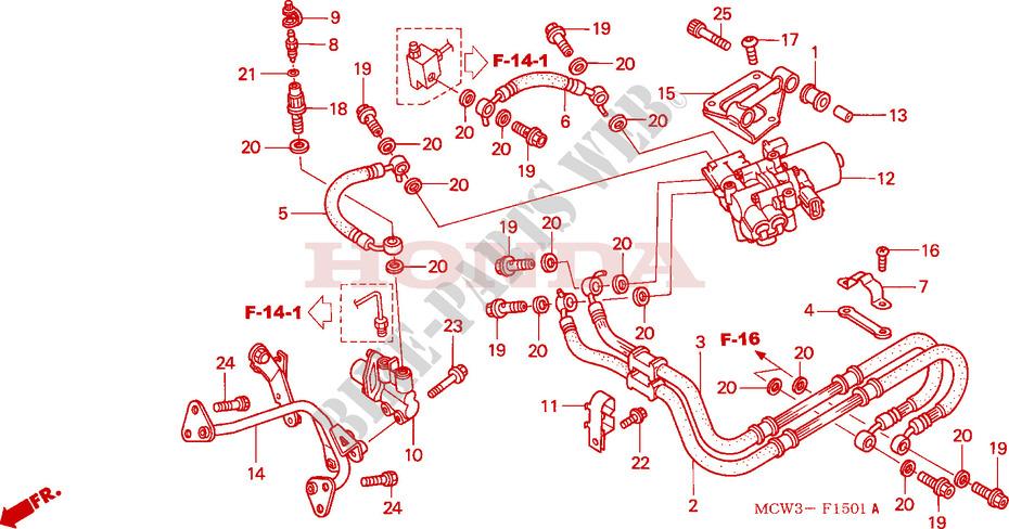 Rear Brake Hose  Vfr800a  For Honda Vfr 800 Abs 2003