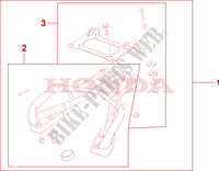 REAR CARRIER Honda motorcycle microfiche diagram VFR800A9 2011 VFR 800 VTEC ABS WHITE