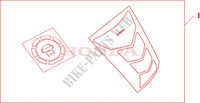 TANKPAD / FUEL LID COVER Honda motorcycle microfiche diagram VFR800A9 2011 VFR 800 VTEC ABS WHITE