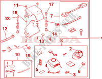 AVERTO SECURITY KIT Honda motorcycle microfiche diagram VFR800A9 2011 VFR 800 VTEC ABS WHITE