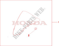 WINDSCREEN Honda motorcycle microfiche diagram VFR800A9 2011 VFR 800 VTEC ABS WHITE