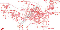 CYLINDER HEAD (FRONT) Honda motorcycle microfiche diagram VFR800A9 2011 VFR 800 VTEC ABS WHITE
