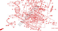 CYLINDER HEAD (REAR) Honda motorcycle microfiche diagram VFR800A9 2011 VFR 800 VTEC ABS WHITE