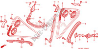 CAM CHAIN/TENSIONER Honda motorcycle microfiche diagram VFR800A9 2011 VFR 800 VTEC ABS WHITE