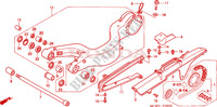 SWINGARM Honda motorcycle microfiche diagram VFR800A9 2011 VFR 800 VTEC ABS WHITE
