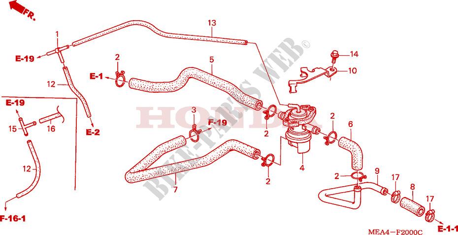 Air Injection Control Valve For Honda Vtx 1300 2003   Honda Motorcycles  U0026 Atvs Genuine Spare