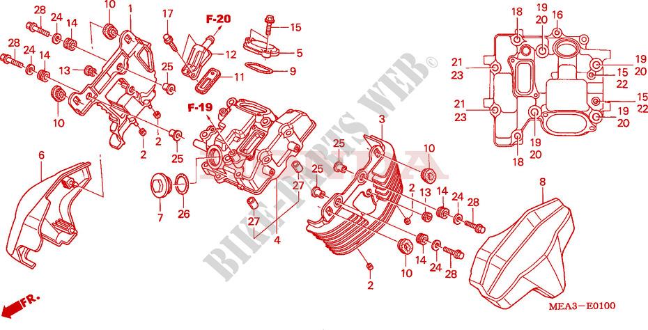 Front Cylinder Head Cover For Honda Vtx 1300 2003   Honda Motorcycles  U0026 Atvs Genuine Spare Parts