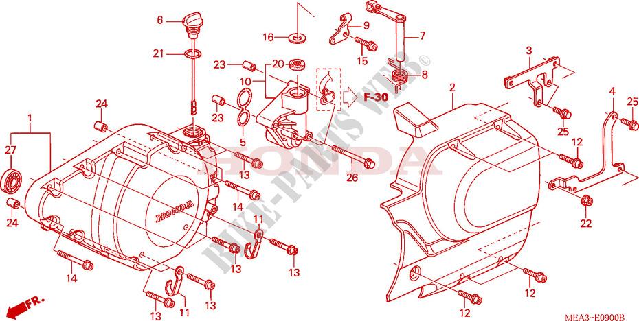 [DIAGRAM_38IS]  LEFT CRANKCASE COVER for Honda VTX 1300 S RETRO 2003 # HONDA Motorcycles &  ATVS Genuine Spare Parts Catalog | Vtx 1300 Engine Diagram |  | Bike Parts-Honda