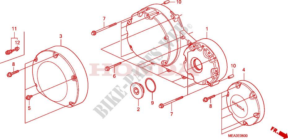 [SODI_2457]   RIGHT CRANKCASE COVER for Honda VTX 1300 2003 # HONDA Motorcycles & ATVS  Genuine Spare Parts Catalog | Vtx 1300 Engine Diagram |  | Bike Parts-Honda