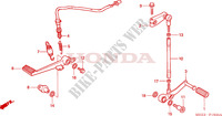 BRAKE PEDAL/CHANGE PEDAL for Honda CBR 600 RR 2006