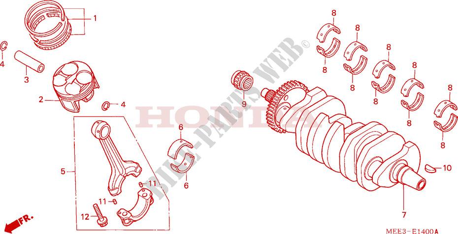 Crankshaft  Piston For Honda Cbr 600 Rr 2005   Honda