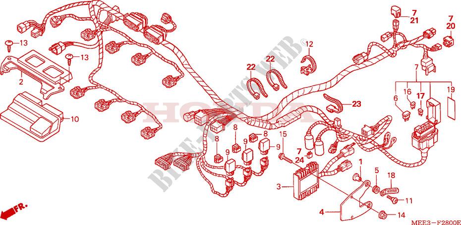 wire harness cbr 600 rr cbr600rr4 2004 brasil cbr600rr4 genuine honda spare parts