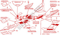 STRIPE/MARK (5) Frame 1000 honda-motorcycle CBR 2005 F__4004