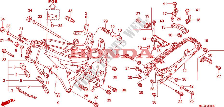 Frame Body For Honda Cbr 1000 Rr Fireblade 2005   Honda