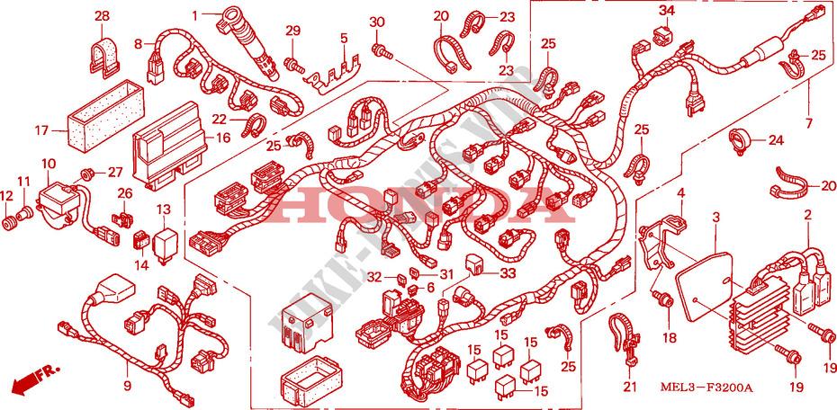 Wire Harness  Cbr1000rr4  5