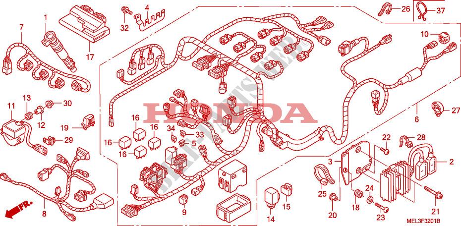 Wire Harness For Honda Cbr 1000 Rr Fireblade 2006   Honda