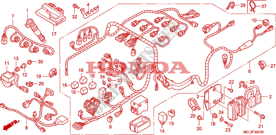WIRE HARNESS for Honda CBR 1000 RR FIREBLADE HRC 2007