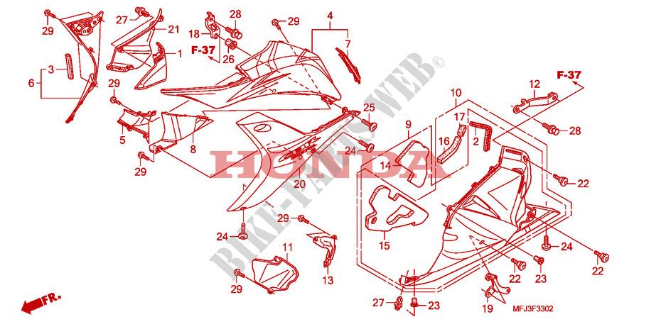 MIDDLE COWL HONDA 64512-MFJ-A40 STAY
