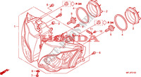 HEADLIGHT Frame 1000 honda-motorcycle CBR 2008 F__0100